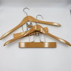 Set of 2 Vintage Wooden Suit Hangers